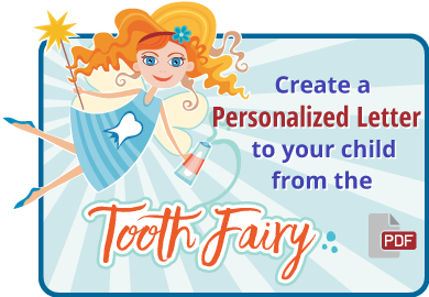 create a personalized letter to your child from the tooth fairy